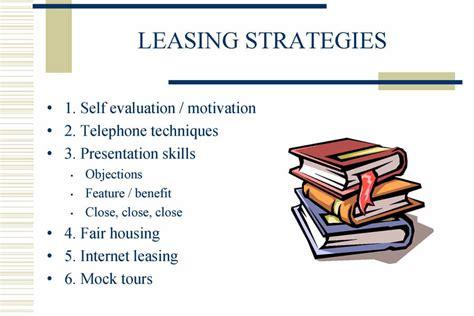leasing consultant training manual project portfolio