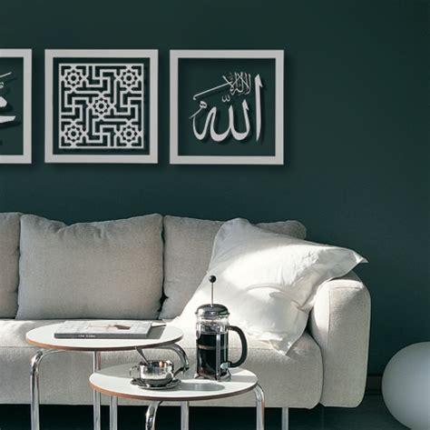 Hiasan Dinding Poster Minimalis Kaligrafi Arab Islami 54 100x100cm contoh desain rumah islami minimalis dan asri