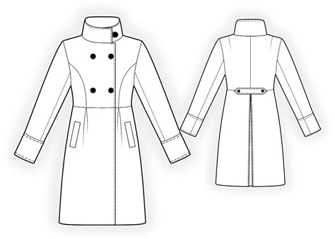 coat template breasted coat sewing pattern 4192 made to