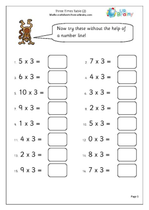 printable times tables worksheets ks2 3 times table 2 multiplication maths worksheets for year