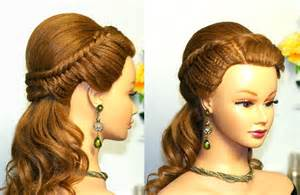Easy prom hairstyle for long hair with fishtail braids youtube