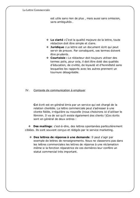 Presentation Normalisee De La Lettre Commerciale exemple de lettre commercial modele lettre francais jaoloron