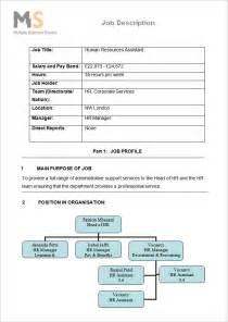 human resources description template 55 hr description templates hr templates free