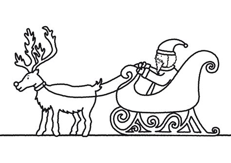 Santa In A Sleigh Coloring Page coloring pages of santa claus and sleigh or print