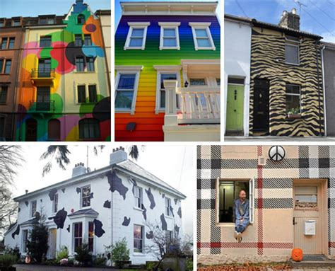 colorful houses painting cool colors 10 crazy painted houses home painting ideas