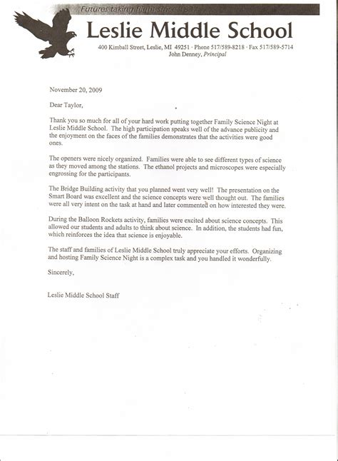 Recommendation Letter For Student Cheerleading Letters Of Appreciation Raymond S Teaching Portfolio