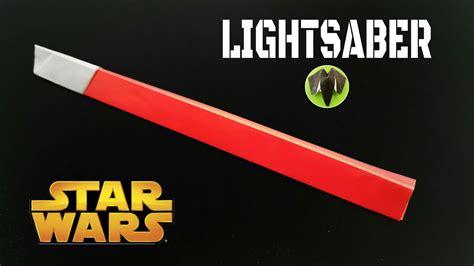 origami lightsaber lightsaber wars diy origami tutorial 754