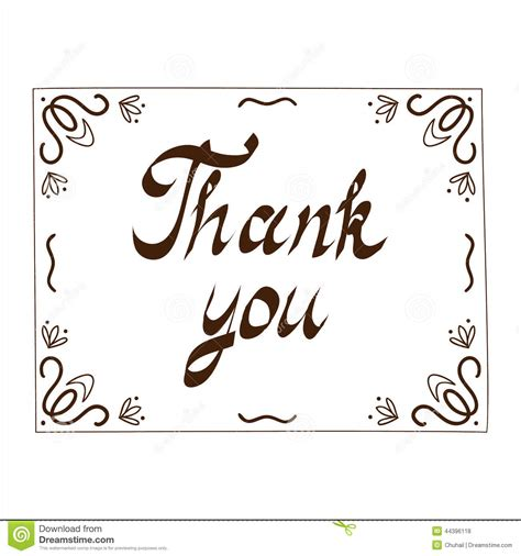 free illustrator thank you card template thank you card template stock vector illustration of give