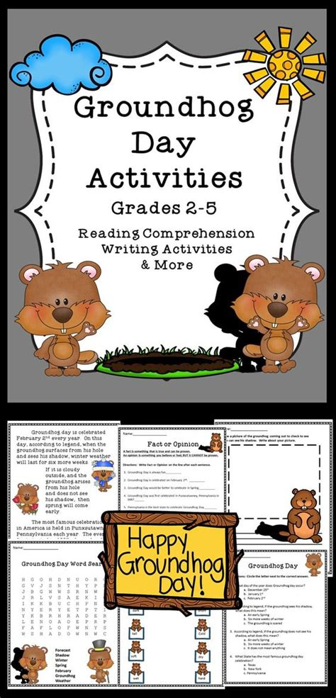 groundhog day journal prompts groundhog day writing activities and reading