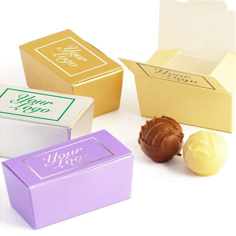 mini personalised chocolate gift box 2 truffle bespoke