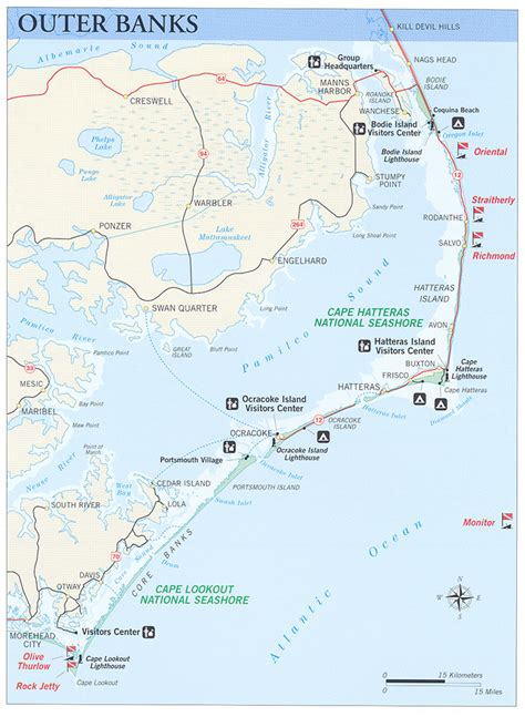 map of carolina outer banks nps gov submerged submerged resources center national
