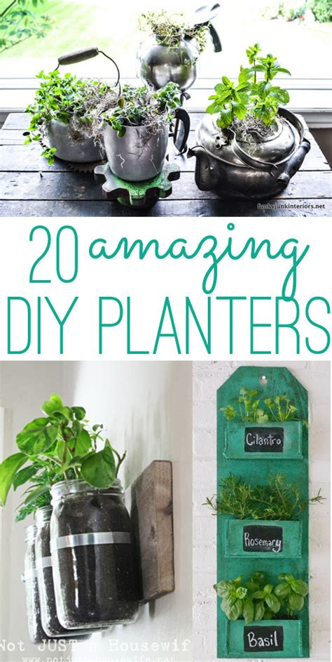 homemade planters diy planters 20 amazing ideas you can make yourself