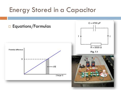 capacitor stored energy equation capacitors ppt