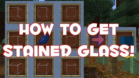 how to make a stained glass l how to craft stained glass minecraft 1 7 youtube