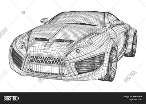 create a blueprint free sports car blueprint non branded concept car stock