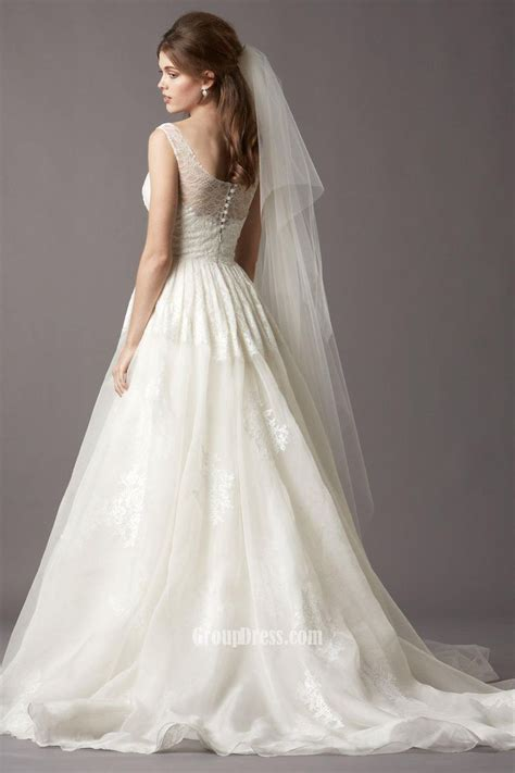 boat neck ball gown wedding dress lace boatneck wedding dress sleeveless boat neck organza
