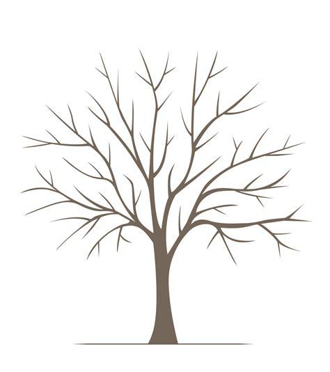 printable tree poster diy large fingerprint tree poster instant download