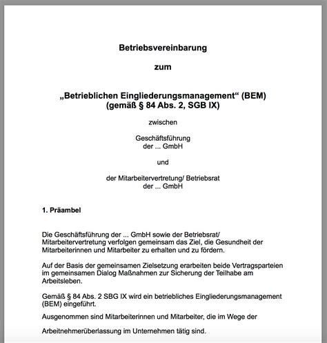 Musterbrief Einladung Bem Praxisleitfaden Betriebliches Eingliederungsmanagement Ubgm