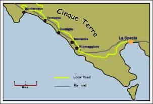 Cinque Terre Italy Map by Cinque Terre Travel Across Italy
