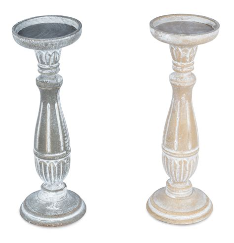 kerzenhalter shabby chic 2er set kerzenhalter 31cm hoch kerzenst 228 nder deko shabby