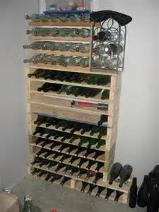 How To Make A Wine Rack In A Kitchen Cabinet Wine Racks And Bars Made Of Recycled Wooden Pallets