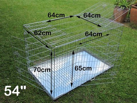 54 inch crate 54 quot collapsible metal multi door pet puppy cage crate not48 quot 4 door ebay