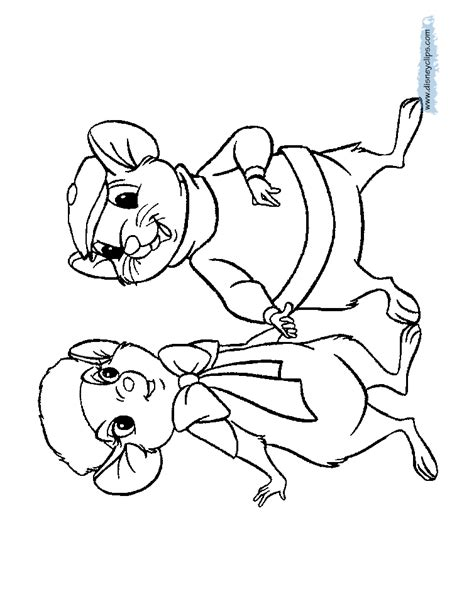the rescuers printable coloring pages disney coloring book