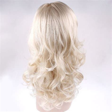 curling hair mistress 187 duafire stylish long curl blonde hair wig party perruque