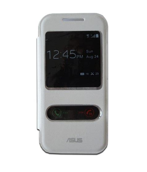 S View Flip Cover Asus Zenfone 4 5 n india s view flip cover for asus zenfone 4 white