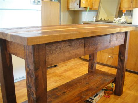 Wooden Kitchen Island | ana white kitchen island from reclaimed wood diy projects