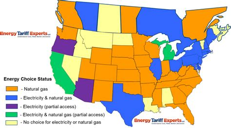 Deregulated Energy Markets The Only Correct Deregulated States Map Energy Tariff