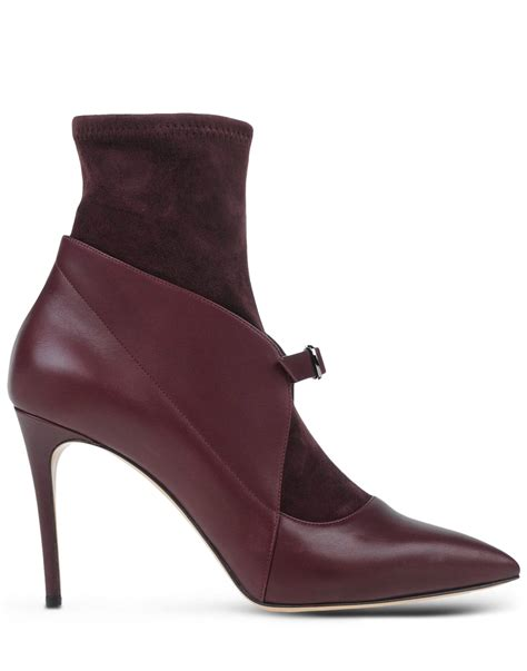 casadei boots casadei ankle boots in purple purple lyst