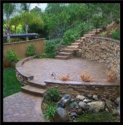 Small Sloped Backyard Ideas by Sloped Backyard Landscaping Ideas Outdoor Living Ideas