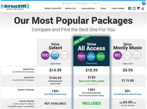 subscription discount getting a siriusxm discounts