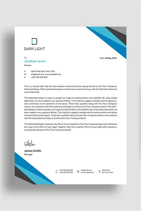 elegant letterhead corporate identity template