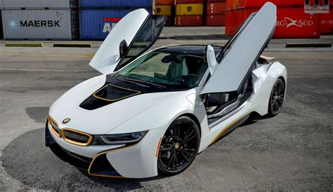 bmw i8 gold wrapped bmw i8 with gold details by exclusive motoring
