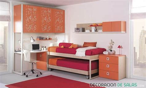 habitaciones juveniles con escritorio dormitorios con escritorios muy modernos