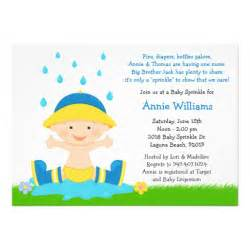 baby sprinkle shower invitation for baby boy 5 quot x 7 quot invitation card zazzle