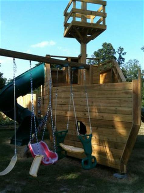 backyard pirate ship plans pirate ship outdoor playset plans woodworking projects
