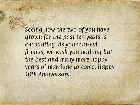 10th Wedding Anniversary Quotes For by 10 Years Anniversary Quotes