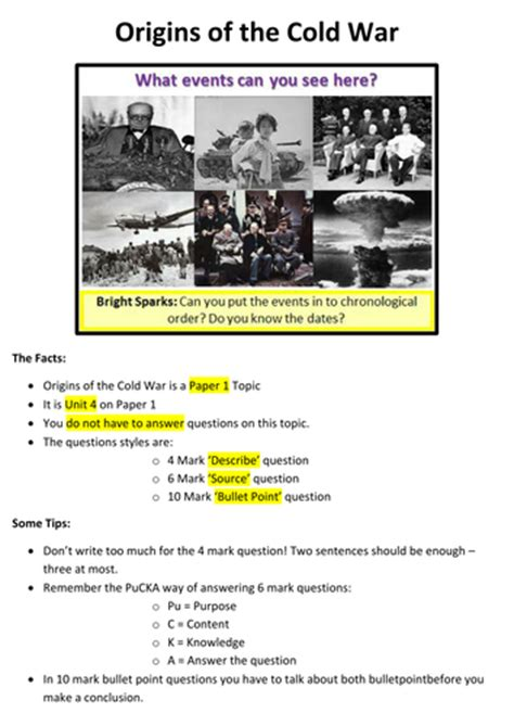 Cold War Worksheets by Worksheets Origins Of The Cold War Worksheet Opossumsoft
