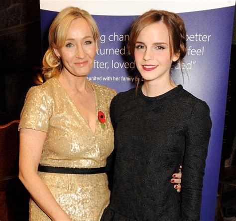 emma watson jk rowling emma watson jk rowling reunite at charity event picture