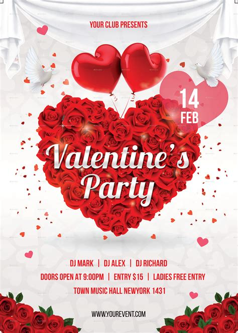 valentines day flyer template free day flyer by infinite78910 graphicriver