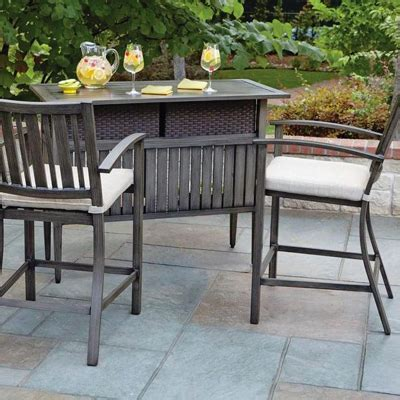 Outdoor Bar Furniture Patio Bars The Home Depot Bar Set Patio Furniture