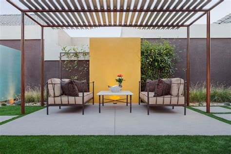 shabby chic patio modern with pergola resistant outdoor