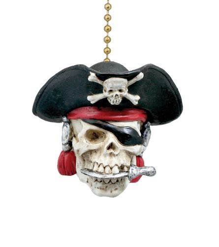 Skull Ceiling Fan by Ship S Captain Pirate Skull Matey Ceiling Fan Light Pull