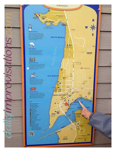 map of oregon newport competing chocolate and salt water taffy shops in newport