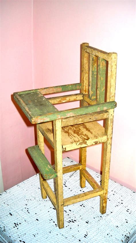 wooden doll chair doll high chair with movable tray doll accessories