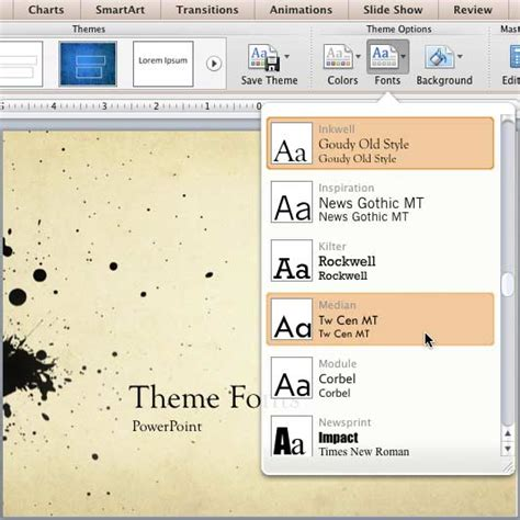 themes for powerpoint mac 2011 theme fonts in powerpoint 2011 for mac powerpoint tutorials