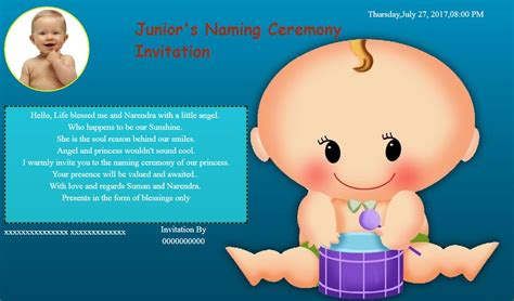 invitation maker for naming ceremony free naming ceremony namakaran invitation card invitations